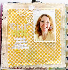 LAYER CANVAS PAGE WITH FABRIC Mixed media album canvas page @kimjeffress @heidiswapp #heidiswapp #heidiswapphellotoday
