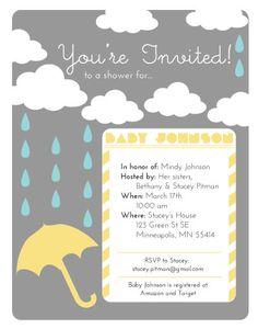 Baby Shower Rain Shower by PlaidPoppyDesigns on Etsy, $30.00