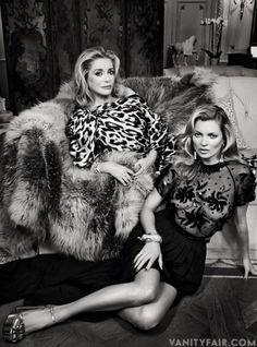 Catherine Deneuve And Kate Moss, 2013 (Vanity Fair, Patrick Demarchelier).