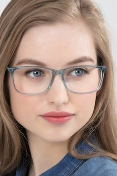 Clear Blue rectangle eyeglasses available in variety of colors to match any outfit. These stylish full-rim, medium sized acetate eyeglasses include free single-vision prescription lenses, a case and a cleaning cloth. Glasses Frames Trendy, Eyeglasses Frames For Women, Cute Glasses, Sunglasses Women, Vintage Sunglasses, Best Eyeglasses, Fashion Eye Glasses, Womens Glasses, Ladies Glasses