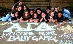 omg I'm on Pinterest! Who knew? AGD delta chapter welcoming home their baby gams - Fall Recruitment 2008