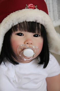 my little Geisha by Gail Carey of newdawnnurserya OOAK reborn toddler doll