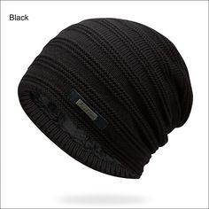 MJ-Young Winter Beanies Women Men Hip-Hop Slouchy Baggy Ski Beanie Hat Female Skull Caps