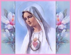 The Immaculate Heart of Mary Religious Images, Religious Art, Jesus E Maria, Padre Celestial, Religion Catolica, Holy Mary, Madonna And Child, Catholic Art, Blessed Virgin Mary