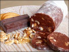 Chorizo de chocolate y frutos secos