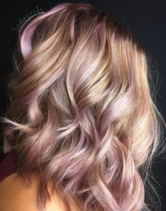 Pink and blonde streaks
