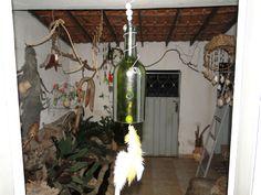 Arte na garrafa de vidro