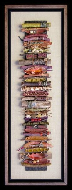 found things from your yard (sticks, rocks, leaves, etc.) add different kinds of dried beans marbles tie some of the sticks with raffia cording fabric to create collage Assemblage Kunst, Deco Nature, Stick Art, Painted Sticks, Driftwood Art, Nature Crafts, Art Plastique, Fabric Art, Textile Art