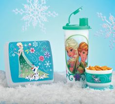 Disney Frozen Fever Lunch Set. Taste the adventure and unleash the magic of lunchtime fun! Set includes Sandwich Keeper, Snack Cup and 16-oz./470 mL tumbler with liquid-tight seal and flip-top spout.