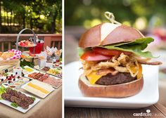 Spice up your summer BBQ with a mouthwatering tablescape and gourmet burger bar…