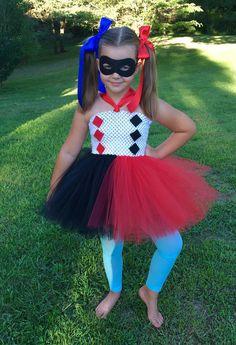 DC Superhero girls Harley Quinn costume by totallytutubychristy