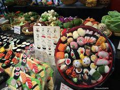 Chirimen fabric sushi