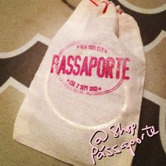 Most jewelry orders come in these logo bags! http://www.ShopPassaporte.com  #Travel #Jewelry #Accessories #Passaporte #Logo #Bags