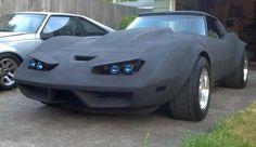 black 1980 corvette