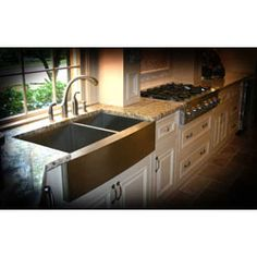 @Overstock - Give your kitchen decor an instant update with a new sink Kitchen sink features a stainless steel apron and an elegantly curved front Sink measures 36 inches long x 20 inches wide x 10 inches deephttp://www.overstock.com/Home-Garden/36-inch-Stainless-Steel-Double-bowl-Farmhouse-Sink/2985773/product.html?CID=214117 $519.99