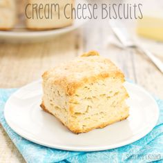 Cream Cheese Biscuits {Sweet Pea's Kitchen} Not as good as it looks.  Dryer than I like my biscuits.