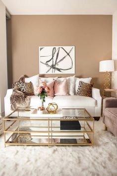 Apartment living room is something you will have to decorate if you want the living space to look proper and . Read Beautiful Apartment Living Room Decorating Ideas On A Budget Beige Living Rooms, Glam Living Room, Paint Colors For Living Room, Beautiful Living Rooms, Living Room Decor, Bedroom Decor, Glam Room, Dining Room, Gold Bedroom
