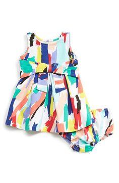 kate spade new york kids 'jillian' brushstroke print sleeveless dress & bloomers (Baby Girls) available at #Nordstrom