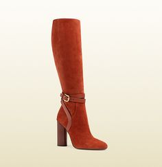 Gucci - suede knee boot