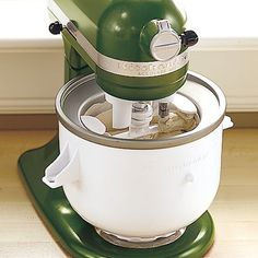 KitchenAid Stand mixer ice cream maker attachment.