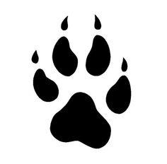 Grey Wolf Paw Print Grey wolf paw print outline