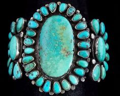 Navajo Silver and Turquoise Bracelet/Cuff