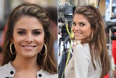 Maria Menounos' French braid is so pretty and polished. To recreate her look, start by sectioning out a four-inch band along the front hairline. Choose what side of the face you'd like to begin on and draw out three two-inch pieces. Begin the French braiding process by adding to each piece from the section along the hairline. When the braid is just above the ear secure it with a hair elastic. To finish the style brush the braid ends to blend them into the loose hair.