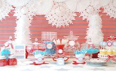 Una mesa muy alegre para la Navidad, via blog.fiestafacil.com / A cheerful table for your Christmas party, via blog.fiestafacil.com