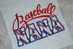 Baseball Nana Embroidered Shirt