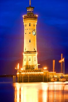 Lighthouse on Lindau Island, Germany