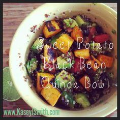 Sweet Potato Black Bean Quinoa Bowl
