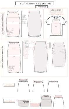 how to sew maternity pencil skirt