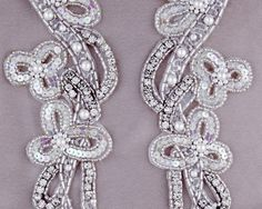 Cassandra Matching Rhinestone Applique [D20094] - $16.00 : Shine Trim Sleeves or waist if turned horizontally
