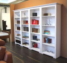 Cordoba 4x Regale Bücherregale Kiefer massiv weiß