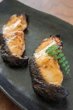 Black Cod with Miso - Sablefish (a. Black Cod) marinated in a sweet miso glaze. Cod Recipes, Fish Recipes, Seafood Recipes, Cooking Recipes, Fish Dishes, Seafood Dishes, Fish And Seafood, Miso Cod Recipe, Nobu Recipe