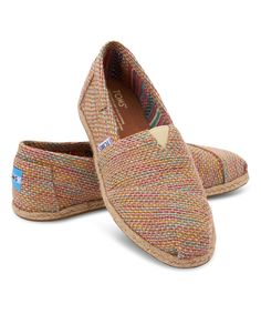 Look at this TOMS Taupe & Mint Burlap Classics on #zulily today!