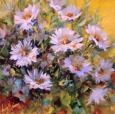 Dive In Daisies by Floral Artist Nancy Medina, painting by artist Nancy Medina