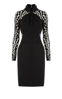 Karen Millen Polka Dot Dress [#KMM135] - $101.20 :