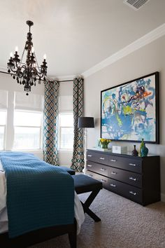 A great idea for my new room! Take the mirror off of current dresser and :)