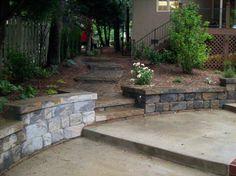 Steps and walkway