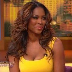 Kenya Moore's beautiful hair