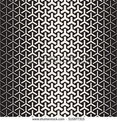 Triangular Shapes Halftone Lattice. Abstract Geometric Background Design. Vector Seamless Black and White Pattern.