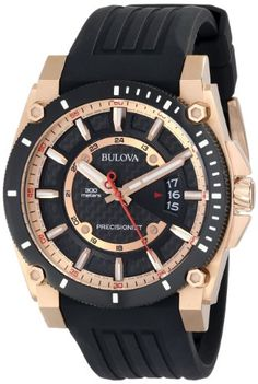 Bulova Men's Precisionist Analog Chronograph Black Watch – Watch Time Luxury Fancy Watches, Casual Watches, Luxury Watches For Men, Sport Watches, Cool Watches, Wrist Watches, Men's Watches, Datejust Rolex, Bulova Mens Watches