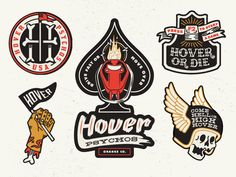 Hover! Motorcycle Patches for Column Five Video