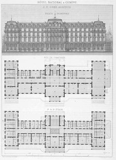 Classical Architecture, Historical Architecture, Architecture Plan, House Plans Mansion, House Floor Plans, Casa Top, Hotel Floor Plan, Vintage House Plans, Le Palais