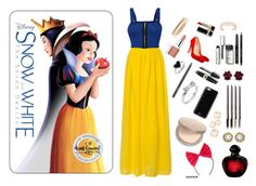 """Snow White style contest"" by ashlynrayquinnmkc ❤ liked on Polyvore featuring WearAll, Kendra Scott, LORAC, Christian Dior, Eve Lom, Gooey, Kate Spade, Max Factor, Bobbi Brown Cosmetics and MAC Cosmetics"