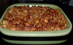 Paula Deen's Praline French Toast Casserole.   Please sir....may I have some more??:)