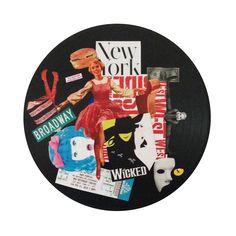 The Sound of Broadway | colagem sobre vinil, 2015 por pedroluiss
