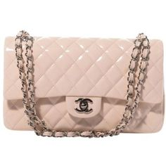 Chanel Patent Quilted Medium Double Flap Shoulder Bag  I found this on Polyvore! I WANT IT!!!