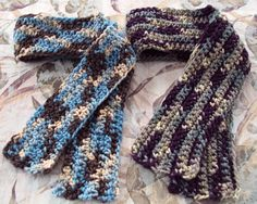 Multi-Color Chunky Scarf  handmade with 100 % acrylic yarn in Wedgewood or Intrigue
